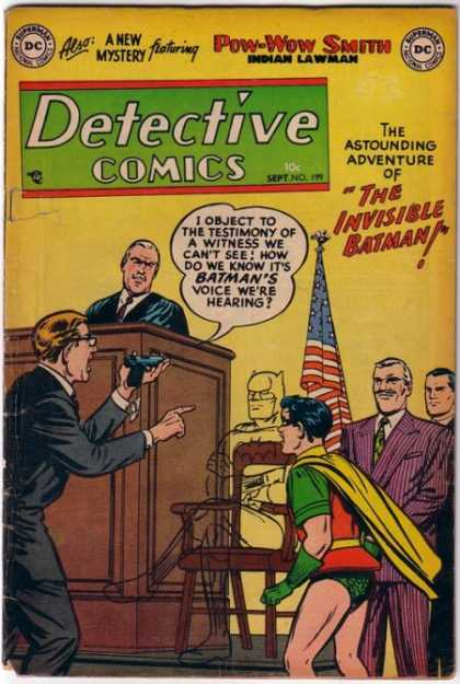 Detective Comics 199 - Gun - The Invisible Batman - Robin - A New Mystery - The Flag Of America
