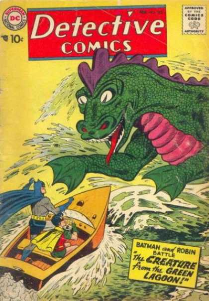 Detective Comics 252 - Batman - Sea Monster - Robin - Boat - Water - Sheldon Moldoff