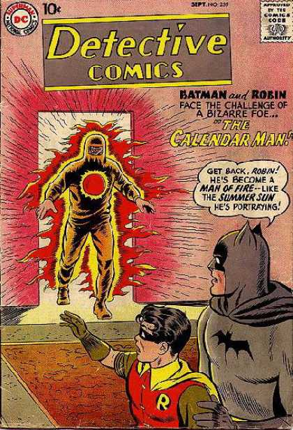 Detective Comics 259 - Batman - Fire - Robin - Calendar Man - Superheros