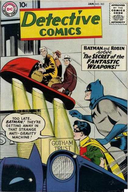 Detective Comics 263 - Batman - Robin - Mask - Mens - Anti-gravity Machine