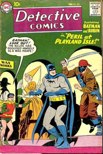 Detective Comics 264 - Batman - Robin - Pirate - Wax Museum - Playland Isle