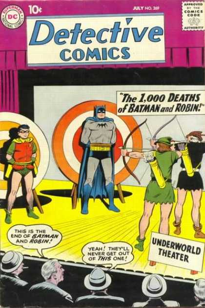 Detective Comics 269 - Batman - Robin - Target - Arrow - The 1000 Deaths Of Batman And Robin