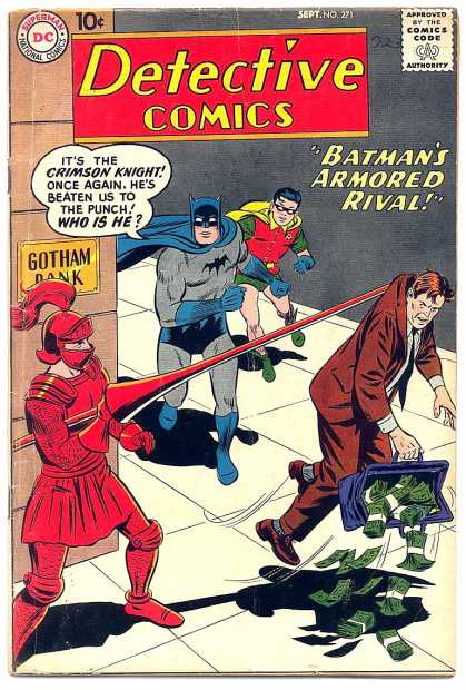 Detective Comics 271 - Crimson Knight - Batman - Robin - Money - Bank - Curt Swan
