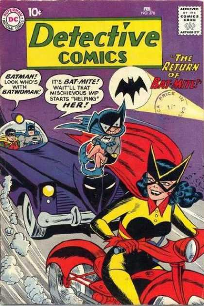 Detective Comics 276 - Batwoman - Batman - Robin - Batmobile - Bat-mite