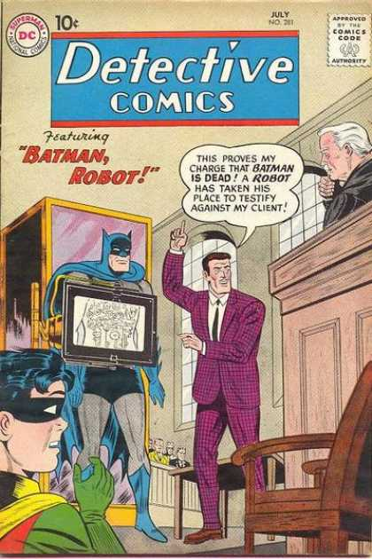 Detective Comics 281 - X-ray - Lawyer - Judge - Court - Robot - Sheldon Moldoff