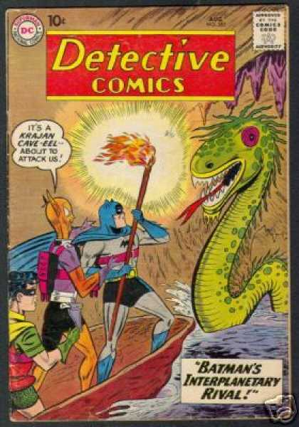 Detective Comics 282 - Batman - Robin - Boat - Green Monster - Dc Comics