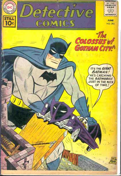 Detective Comics 292 - Batman - Dc - Batmobile - 10 Cents - Colossus