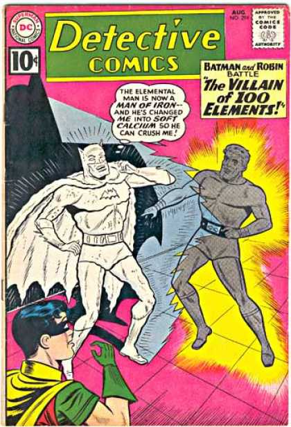 Detective Comics 294 - Batman - Robin - The Villain Of 100 Elements - Man Of Iron - Battle - Sheldon Moldoff