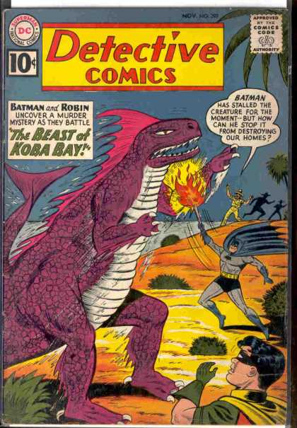 Detective Comics 297 - Batman - Robin - Dinosaur - The Beast Of Koba Bay - Murder Mystery - Sheldon Moldoff