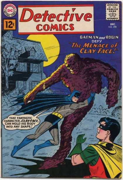 Detective Comics 298 - Clay-face - House - Batman - Robin - Monster - Sheldon Moldoff