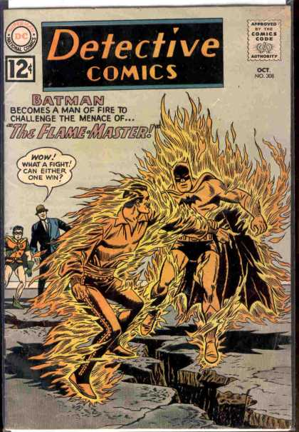 Detective Comics 308 - Batman - Detective Comics - The Flame-master - Cracked Ground - October - Sheldon Moldoff