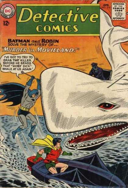 Detective Comics 314 - Batman - Robin - Murderer In Movieland - Approved - Comics Code