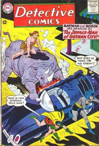 Detective Comics 315 - Jungle Man - Rhino - Batman - Robin - Automobile