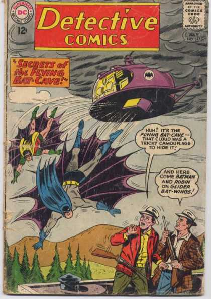 Detective Comics 317 - Batman - Robin - Flying Bat-cave - Glider Bat-wings - Ominous Dark Cloud - Sheldon Moldoff