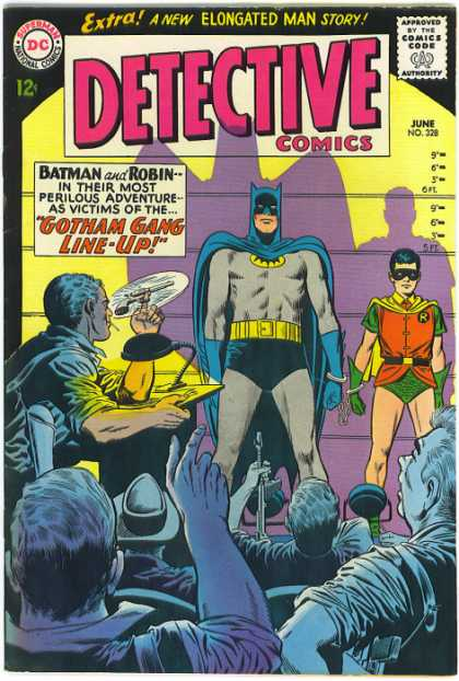 Detective Comics 328 - Batman - Robin - Elongated Man Story - Gotham Gang Line-up - Handcuffs - Carmine Infantino