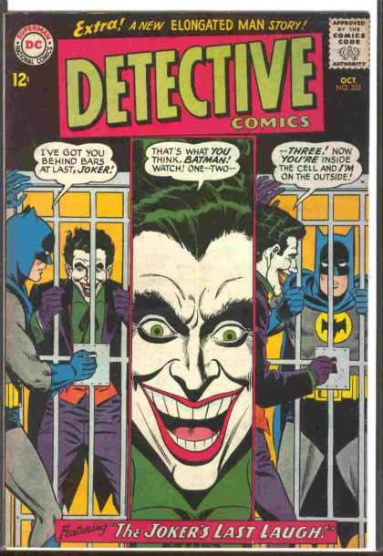 Detective Comics 332 - Joker - Batman - Bars - Cell - Green - Carmine Infantino