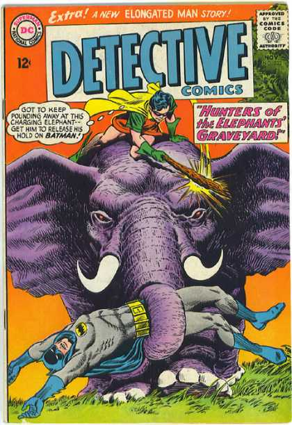 Detective Comics 333 - Elephant - Batman - Hunters - Graveyard - Elongated Man - Carmine Infantino, Murphy Anderson