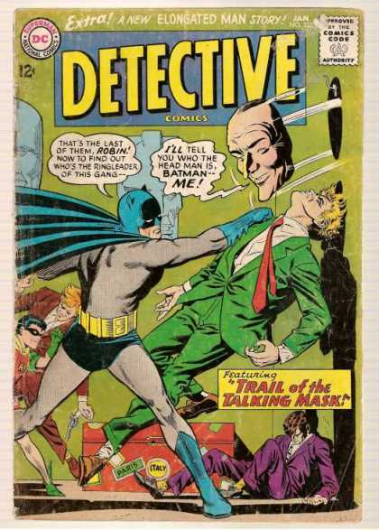 Detective Comics 335 - Batman - Robin - Trail Of The Talking Mask - Man Head - Boy Wonder - Carmine Infantino