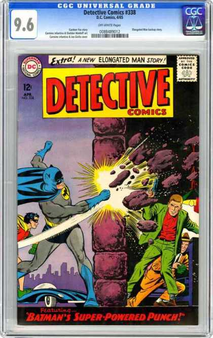 Detective Comics 338 - Wall - Batman - Punch - Dc - Rock - Carmine Infantino