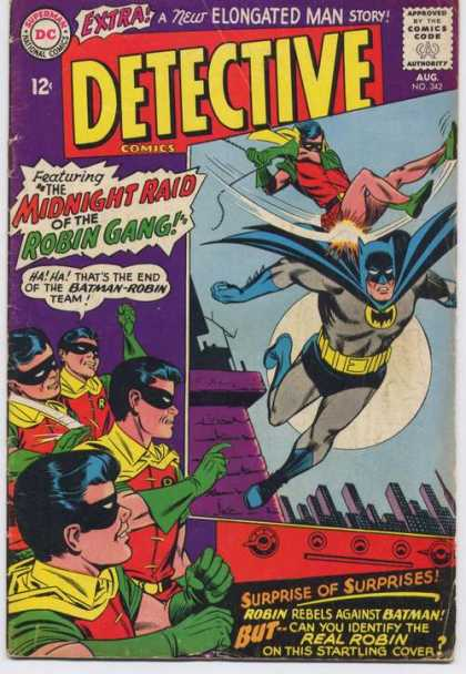 Detective Comics 342 - Robins Revenge - Crushed Crusader - Dynamic Duo Turns Ugly - Batman Undone - Dynamic Dou Falls To Pieces - Carmine Infantino