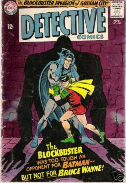 Detective Comics 345 - Batman - Bruce Wayne - Robin - The Block Buster Invasion Of Gotham City - Tough - Carmine Infantino