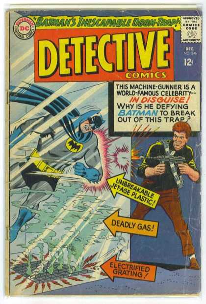 Detective Comics 346 - Batman - Gas - Machine Gun - Machine-gunner - Doom-trap - Carmine Infantino