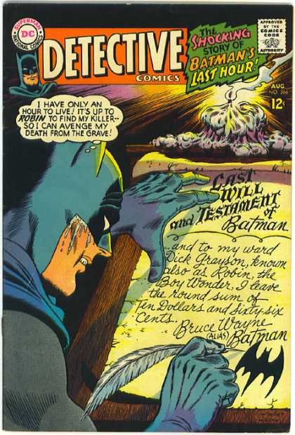 Detective Comics 366 - Last Will And Testament - Robin - Batman - Time - Candle - Carmine Infantino, Murphy Anderson