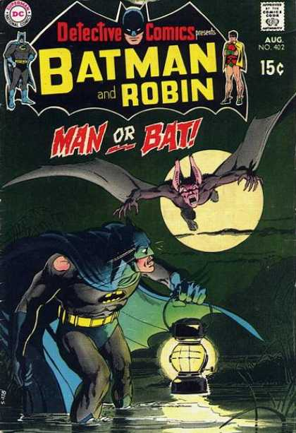 Detective Comics 402 - Lantern - Batman - Robin - Man Or Bat - Swamp - Neal Adams