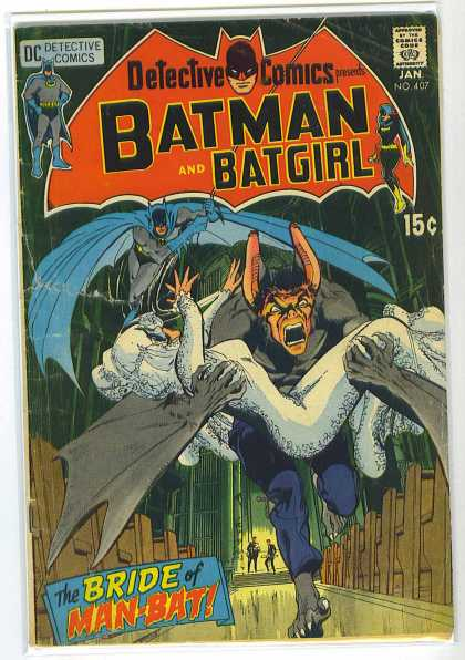 Detective Comics 407 - Man-bat - Bride - Pews - Church - Running - Neal Adams