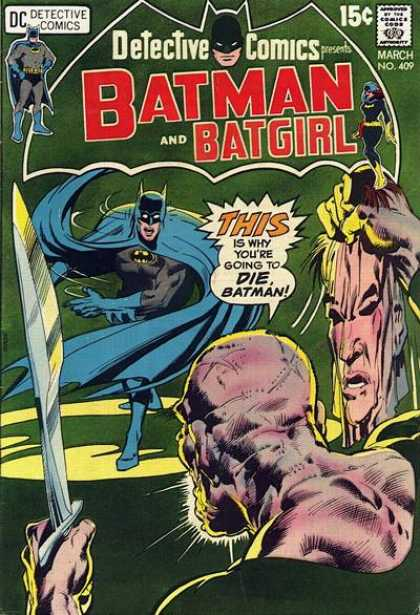 Detective Comics 409 - Batman - Batgirl - Mask - Neal Adams