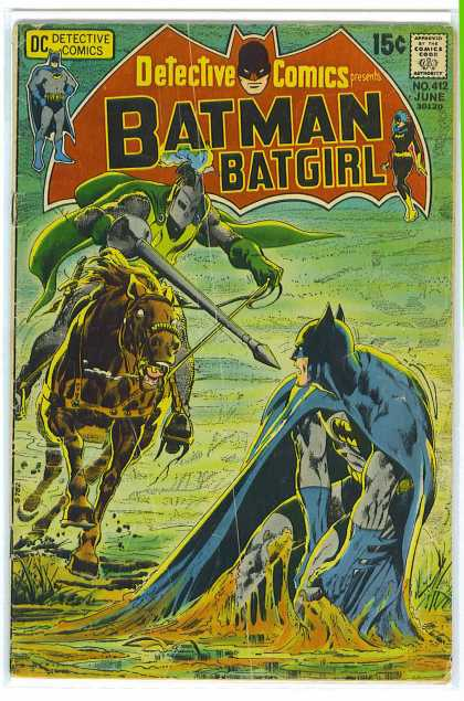 Detective Comics 412 - Batman - Knight - Batgirl - Horse - Neal Adams