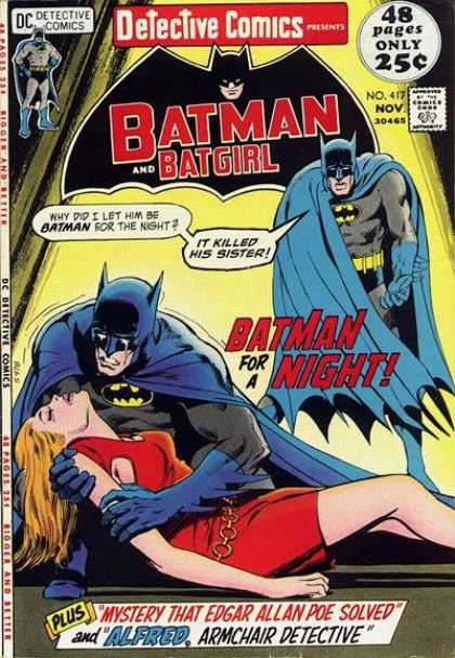 Detective Comics 417 - Batman - Batgirl - Dc Comics - Red Shirt - Edgar Allan Poe - Dick Giordano, Neal Adams
