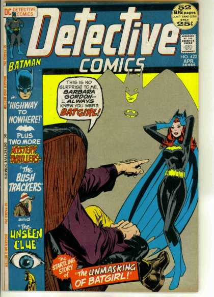 Detective Comics 422 - Batman - Batgirl - Eye - Shadow - Hand - Neal Adams