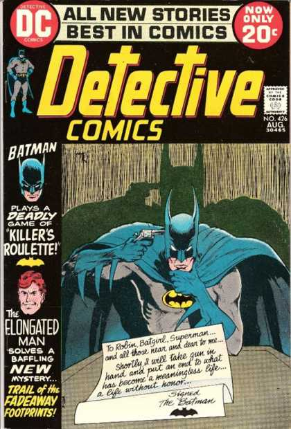 Detective Comics 426 - Gun - Suicide - Super Man - Elongated - Killers Roulette - Michael Kaluta