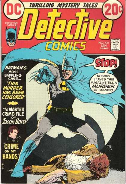 Detective Comics 431 - Batman - Jason Bard - Murder - Blue And Grey Outfit - Dead Body - Michael Kaluta