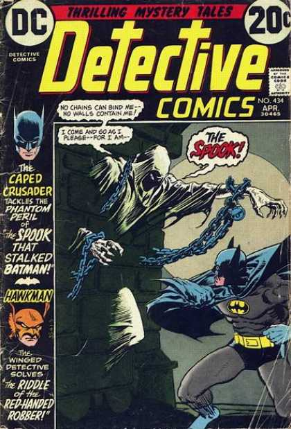 Detective Comics 434 - Batman - Chains - Hawkman - Spook - Death - Michael Kaluta