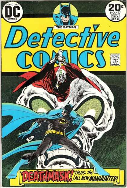 Detective Comics 437 - Batman - Deathmask - Knife - Eyes - Skull - Jim Aparo