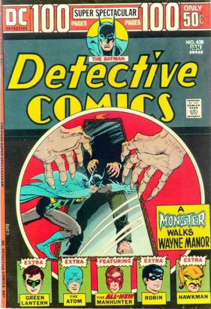 Detective Comics 438 - Monster - Batman - Green Lantern - Atom - Robin - Michael Kaluta