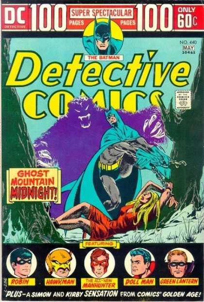 Detective Comics 440 - Batman - Robin - Hawkman - Manhunter - Doll Man - Jim Aparo