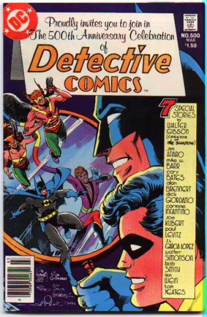 Detective Comics 500 - Batman - Dc Comics - 500th Anniversary Celebration - The Shadow - Cary Bates - Dick Giordano, Jim Aparo