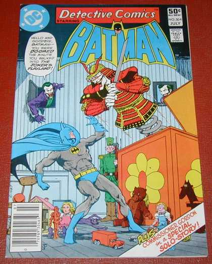 Detective Comics 504 - Toys - Batman - Sword - Joker - Doll - Jim Starlin