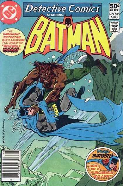 Detective Comics 505 - Werewolf - Underwater - Batman - Batgirl - Cape - Dick Giordano, Richard Buckler