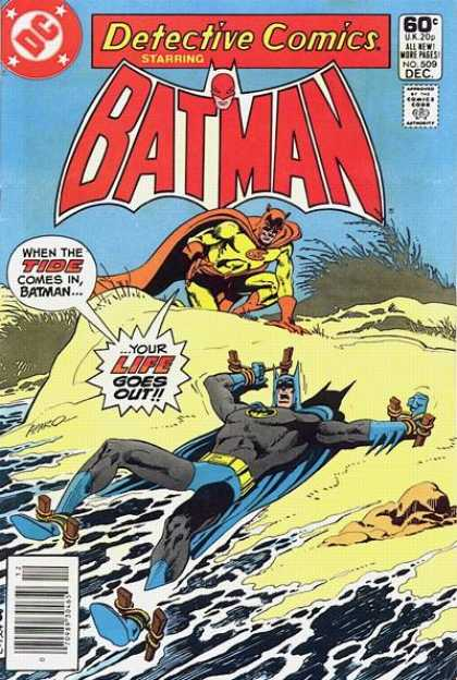 Detective Comics 509 - Batman - Beach - Tied Up - Water - Rocks - Jim Aparo