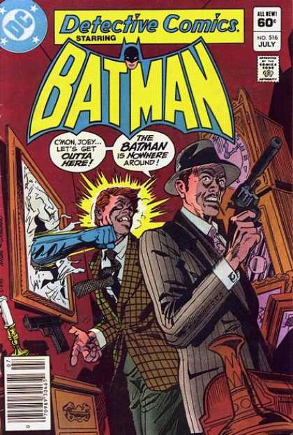 Detective Comics 516 - Batman - Gun - All New - Approved By Comics Code - Man - Dick Giordano, Ross Andru