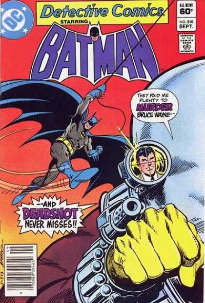 Detective Comics 518 - Gun - Deadshot - Batman - Jim Aparo