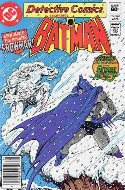 Detective Comics 522 - Snowman - Batman - Snow - Green Arrow - Cliff - Jim Aparo