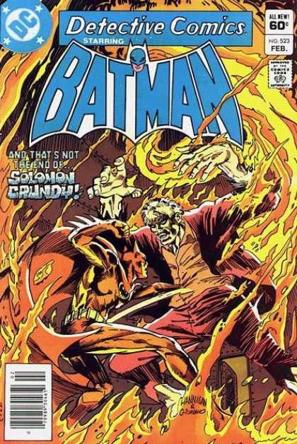 Detective Comics 523 - Batman - Fire - Monster - Solomon Crundy - Approved By The Comics Code - Dick Giordano