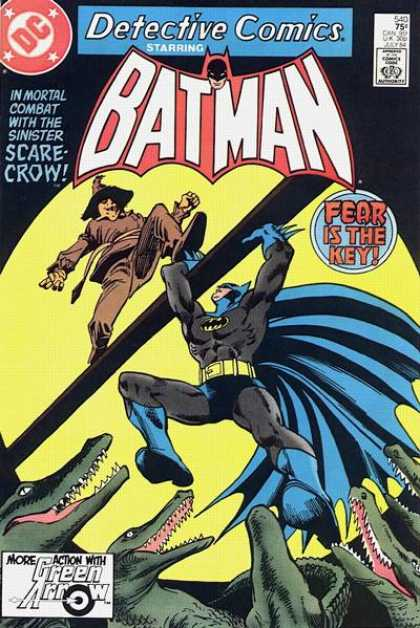 Detective Comics 540 - Scarecrow - Alligators - Dick Giordano, Gene Colan