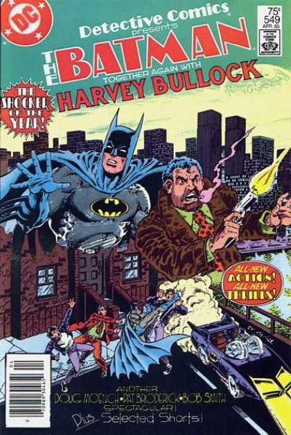 Detective Comics 549 - Gun - Batmobile - City - Batman - Harvey Bullock