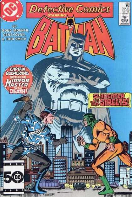 Detective Comics 555 - Batman - Building - Sword - Car - Light - Dick Giordano